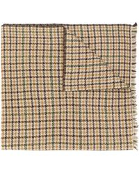 Isabel Marant チェック スカーフ - ブラウン