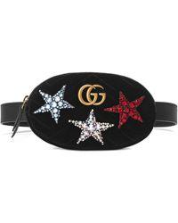 Gucci Поясная Сумка 'GG Marmont' - Черный