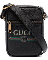 Gucci Logo print shoulder bag - Marron