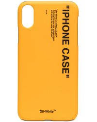 Off-White c/o Virgil Abloh Iphone Xs Max Hoesje - Geel