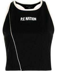 P.E Nation レーサーバック クロップドトップ - ブラック