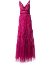 Marchesa notte - Vestido de fiesta de tul - Lyst