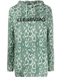 Calvin Klein Kapuzenpullover mit Print - Grün