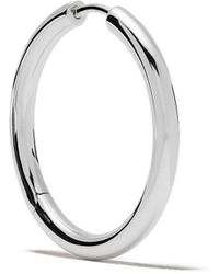 Tom Wood Sterling Silver Round Hoops - Metallic