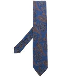 Etro - Paisley Embroidery Tie - Lyst
