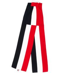 Thom Browne Bufanda grande con lazo Milano - Rojo