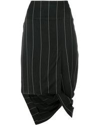Haider Ackermann アシンメトリー スカート - ブラック