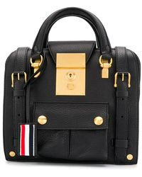 Thom Browne Zip-top Mrs. Thom Mini Backpack - Black