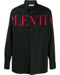 Valentino Overhemd Met Print - Zwart