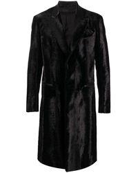 Amiri シアリング シングルコート - ブラック