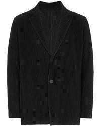 Homme Plissé Issey Miyake Blazer con botones - Negro