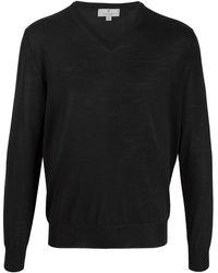 Canali Vネックセーター - ブラック