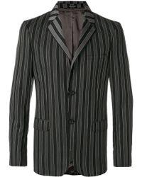 Alexander McQueen Striped Blazer - Grijs
