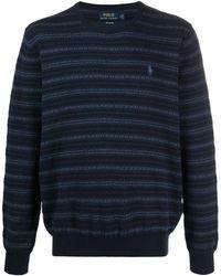 Ralph Lauren インターシャ セーター - ブルー