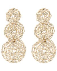 Rosantica - Pizzo Bead Embellished Spiral Earrings - Lyst