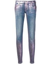Faith Connexion - Metallic Paint Jeans - Lyst