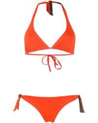 Fisico Bikini bicolore - Orange
