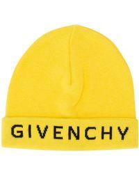 Givenchy Mütze mit Logo-Stickerei - Gelb