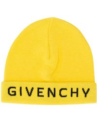 Givenchy Logo Beanie Hat - Yellow