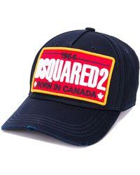 DSquared² Baseballkappe mit Logo-Stickerei - Blau