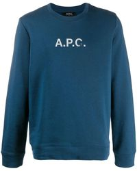 A.P.C. - ロゴ プルオーバー - Lyst