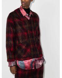 Nicholas Daley Check Pattern Shirt Jacket - Red
