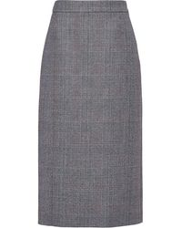 Prada チェック スカート - ブラック