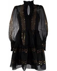 Temperley London Robin Long-sleeve Mini Dress - Black