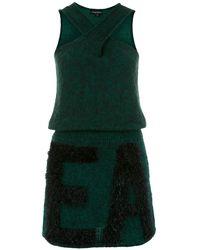 Emporio Armani Logo Knitted Dress - Green