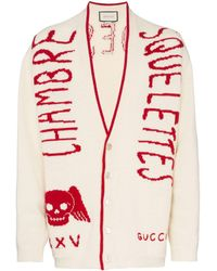 Gucci Кардиган 'chambre Squelettes' - Красный