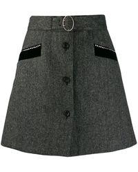 Miu Miu Aラインスカート - ブラック
