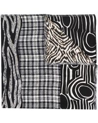 Pierre Louis Mascia Mixed Print Scarf - Black