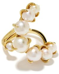 Ana Khouri 18kt Yellow Gold Time Pearl Ring - Multicolor