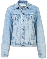 RE/DONE - Perfect Oversized Trucker Jacket - Lyst