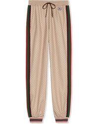 Gucci Interlocking G-print Sweatpants - Natural