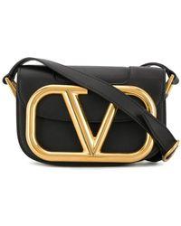 Valentino Garavani Объемная Сумка На Плечо С Логотипом Vlogo - Черный