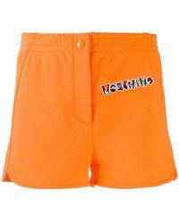 Moschino Шорты С Вышитым Логотипом - Оранжевый