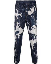 DSquared² Vaqueros ajustados con estampado tie-dye - Azul