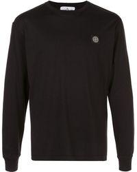 Stone Island 22713 ロゴ Tシャツ - ブラック