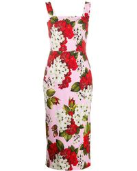 Dolce & Gabbana フローラル ドレス - ピンク