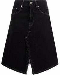MM6 by Maison Martin Margiela Asymmetric Denim Skirt - Black
