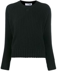 Courreges チャンキーニット セーター - ブラック