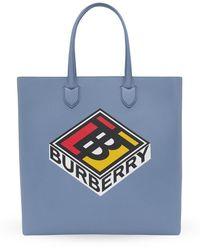 Burberry Großer 'Kane' Shopper - Blau