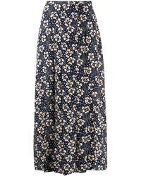 RIXO London Georgia フローラル スカート - ブルー