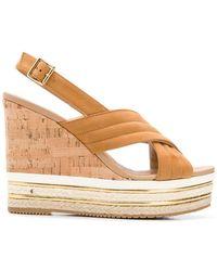 Hogan - Wedge Slingback Sandals - Lyst