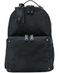 Valentino Camouflage Backpack - Black