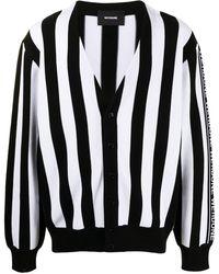 we11done Logo-sleeve Cardigan - Black