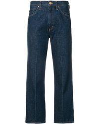 Goldsign Pantalones capri de talle medio - Azul