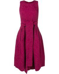Samantha Sung Sleeveless Flared Midi Dress - Rood