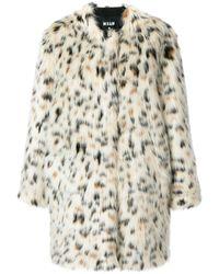 MSGM Пальто С Леопардовым Принтом - Многоцветный